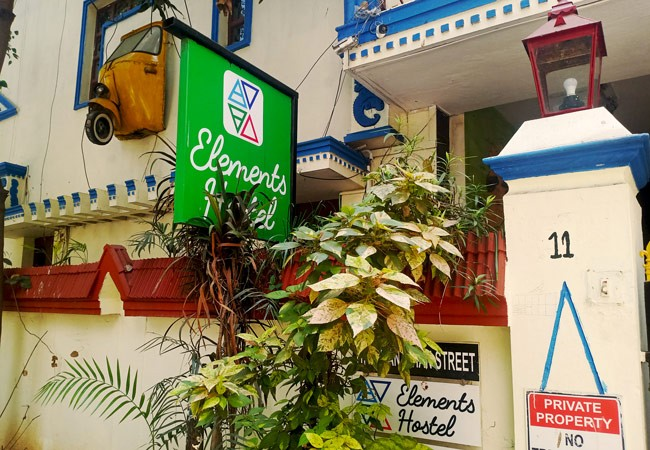 elements hostel guesthouse chennai gallery outside view